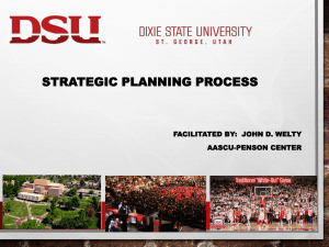 Dixie State Strategic Planning Process