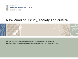 New Zealand: Study, society and culture