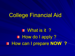 Financial Aid Powerpoint