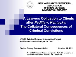 The Collateral Consequences of Criminal Convictions