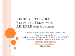Ready for Take-Off: Preparing Teens with ADHD/LD for College