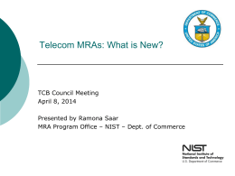 2014-04-08-02TCB Meeting Presentation NIST