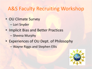 Faculty Recruiting Workshop PowerPoint