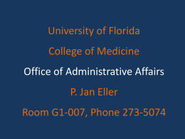 Administration - Office of Faculty Affairs & Professional Development