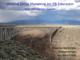 Utilizing Social Marketing for TB Education with the Navajo Nation