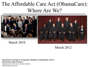 "Affordable Care Act (""Obamacare"")"