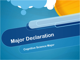Major Declaration - Psychology Department