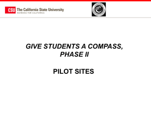Pilot Sites - The California State University