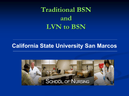 Kinesiology and Nursing Majors - California State University San
