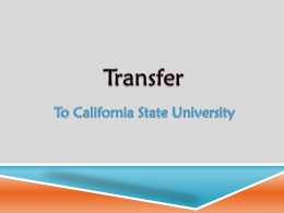 Student Transfer to CSU Workshop v1