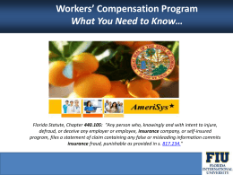 Workers` Compensation - Human Resources