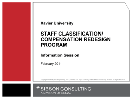 Classification-Compensation-Information