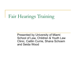 Fair Hearing - Florida Guardian ad Litem