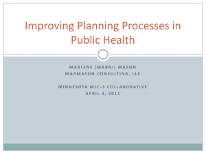 Improving Planning Processes in Public Health (Minnesota)