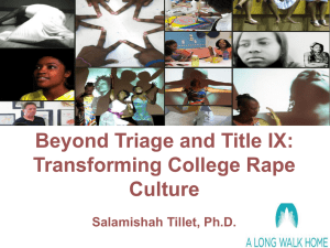 Beyond Triage and Title IX