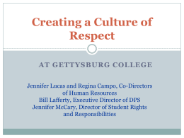 Creating a Culture of Respect at Gettysburg College