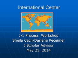 J-1 Training Presentation - UCI International Center