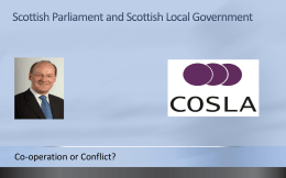 The Scottish Parliament and Scottish Local Government