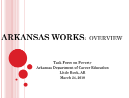 Arkansas Works: Expansion of the Arkansas College and Career