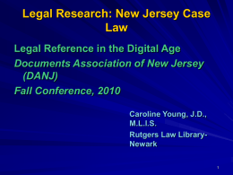 Case Law - Caroline Young - Documents Association of New Jersey