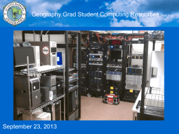 UCSB Geography Computing Resources