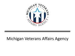 Michigan Department of Military and Veterans Affairs Overview