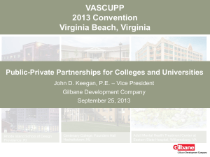 Public-Private Partnerships for Colleges and Universities
