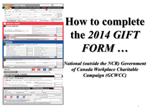 How to Fill Gift Form… - gcwcc