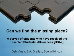 E.A. Draffan: Can we find the missing piece?