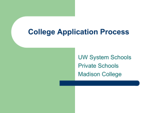 College Application Process Powerpoint