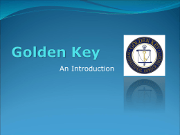 Golden Key - University of South Australia