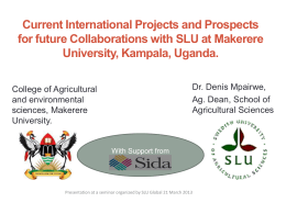 """Developing Sustainable Agricultural Production Systems"