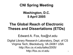 The Global Reach of Electronic Theses and Dissertations