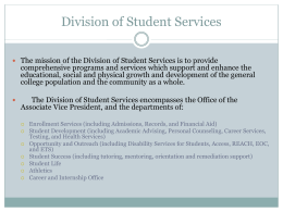Student Services - Community College of Rhode Island