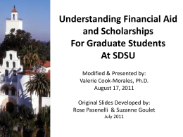 Financial Aid and Scholarships For Graduate Students