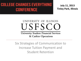 University of Illinois USFSCO 6 Strategies