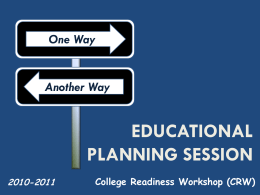 Educational Planning Session - Linn