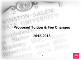 Tuition and Fees Presentation  - Winston