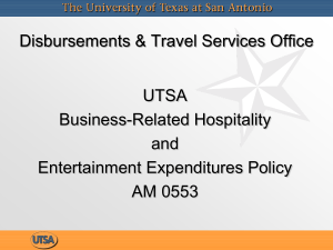 Business-Related Hospitality & Entertainment