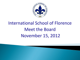 The International School of Florence