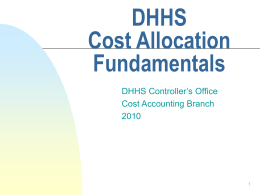 DHHS-Cost Allocation Fundamentals