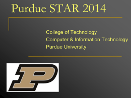 STAR Presentation - College of Technology