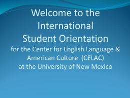 Immigration - Center for English Language & American Culture