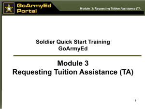 How to set up an account in GoArmyEd