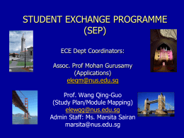 SEP Presentation Slides - The Department of Electrical Engineering