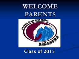 2014 Senior Parent Night - Laguna Beach Unified School