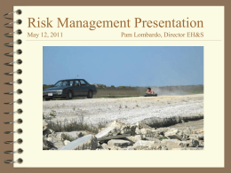 Risk Assessment - Business & Financial Services
