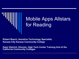 Allstar Reading Apps v3 - Accessing Higher Ground