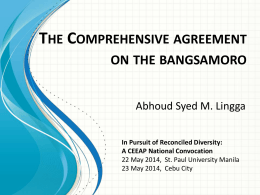 Comprehensive Agreement on the Bangsamoro