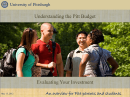 Evaluating Your Investment - Keep Pitt Public